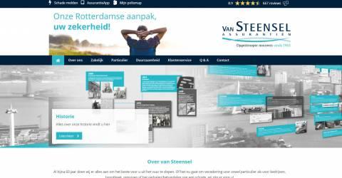 Een voorbeeld van de website van Van Steensel Assurantiën
